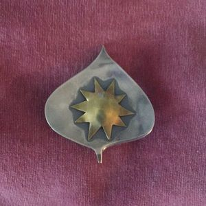 Handmade sterling silver pin